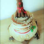 """recette Gâteau """"Naked-Cake""""Rennes Rudolphe pour le spéctacle gouter de noel à l'ecole de mon fils!"""