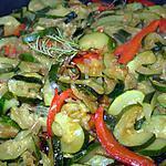 recette Poëlée en vert et rouge
