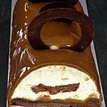 recette Bûche vanille, caramel et chocolat