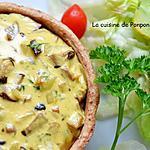 recette Quiche aux champignons et chorizo