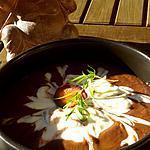 recette Soupe crémeuse de carottes violettes, lentilles corail, gingembre et tofu soyeux