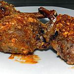recette Côtes d'agneau en croûte de noix