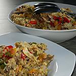 recette Boulgour aux poulet et ses légumes