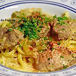 recette Filet mignon au maroilles et à la leffe