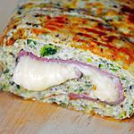 recette Roulé de courgette farci au jambon et fromage