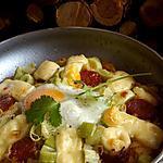 recette Rosti façile poireaux chorizo emmental et oeuf