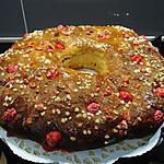 recette Couronne des rois et ces pralines aux amandes ...oranges & clémentines confites ...
