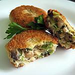 recette Boulettes de poulet aux champignons