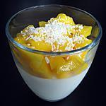 recette Panna cotta coco/mangue