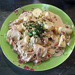 recette Pommes de terre à la crème de   Saint - Agur et trio de poivrons