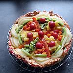 recette Tarte soleil aux fruits en sirop et sa crème pâtissière