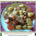recette Ragoût de porc, carottes et pommes de terre