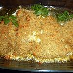 recette Filet de lieu noir en croute de parmesan