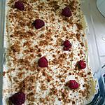 recette Tiramisu chocolat blanc,framboise,spéculoos
