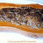 recette Butternut farcie viande et marrons