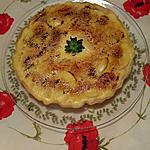 recette Tarte aux  pommes parfumée à la vanille ..façon  crème brûlée