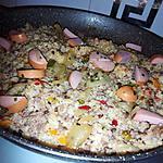 recette Mélange gourmand au poivrons et a la saucisse fumé