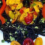 recette Spaghetti à l'encre de seiche à l'Espagnole du blog cccuisine.over-blog.com