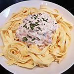 recette Tagliatelles au thon et fromage de chèvre