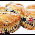 recette muffins aux myrtilles et cassis