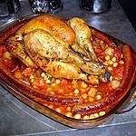 recette Poulet rôti cuit sur  légume couscous aux épices orientales  ...