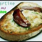 recette Tartine au chèvre et magret fumé