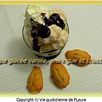 recette Coupe glacée vanille, meringue et chocolat