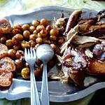 recette pintade  au vin  moelleux; fruits au  miel