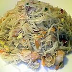 recette Salade de vermicelle , légumes et crevettes
