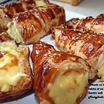 recette Tubes ou cornets à la crème et caramel beurre salé