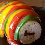 recette Ballotine de poulet farcie tomate séchée en chemise de poivrons