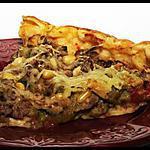 recette Tarte steack haché - courgettes