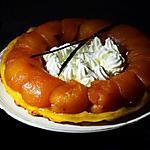 recette Tatin de pomme crème fouettée à la vanille