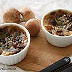 recette Clafoutis aux champignons { sans gluten, sans oeufs }