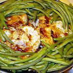 recette Rôti de porc à la cocotte et  haricots verts