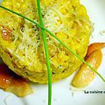 recette Risotto aux champignons parfumé au safran