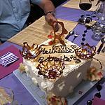 recette Gâteau  Arc-en-ciel   ....... et sa  ganache au chocolat blanc  & crème  fouettée à la  pistache