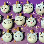 recette Macarons licorne ganache coco