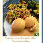 recette Sauce aurore nappe des œufs mollets (au robot Kenwood)