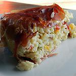 recette Gâteau de riz lardé aux poivrons
