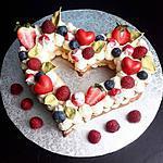 recette Number Cake - Coeur