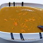 recette Velouté butternut oignons rouges pomme et curcuma frais