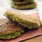 recette Galettes pois cassés, quinoa, brocoli { sans gluten, sans lait sans oeufs }