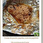 recette Cuisses de poulet parfumées au paprika, cuites en papillote
