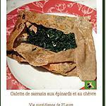 recette Galettes de sarrasin aux épinards frais et chèvre