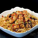 recette Nouilles de Riz Sautées aux Crevettes (Sans Gluten)