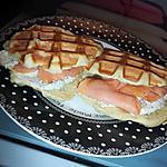 recette Waffine salé au saumon fumé et au boursin