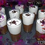 recette Duo mousse au chocolat et noix de coco