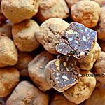 recette Truffe au chocolat et aux pépites d'abricot