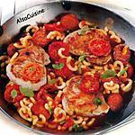 recette Poêlée d'escalopes de porc aux épices et chorizo